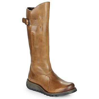 Pantofi Femei Cizme casual Fly London MOL 2 Camel