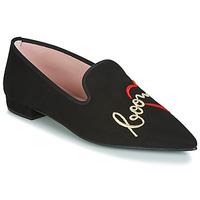 Pantofi Femei Balerin și Balerini cu curea Pretty Ballerinas  Negru