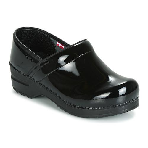 Pantofi Femei Saboti Sanita PROF Negru