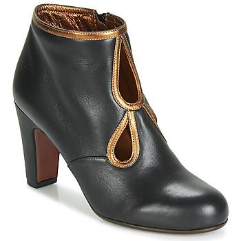 Pantofi Femei Botine Chie Mihara KOSPI Negru / Auriu