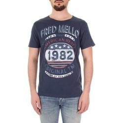 Îmbracaminte Bărbați Tricouri mânecă scurtă Fred Mello FM19S09TG Blu
