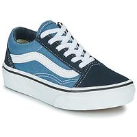 Pantofi Copii Pantofi sport Casual Vans UY OLD SKOOL Bleumarin / Alb