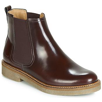 Pantofi Femei Ghete Kickers OXFORDCHIC Roșu-bordeaux
