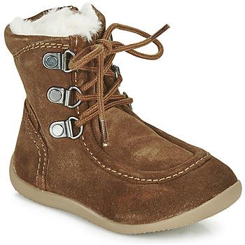Pantofi Copii Cizme casual Kickers BAMARA Camel