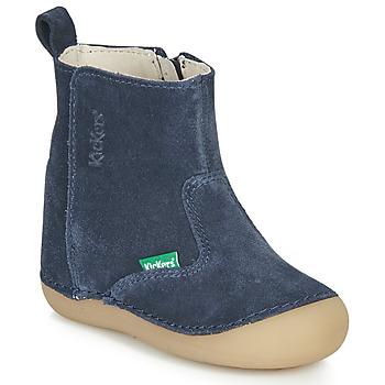 Pantofi Copii Cizme casual Kickers SOCOOL Bleumarin