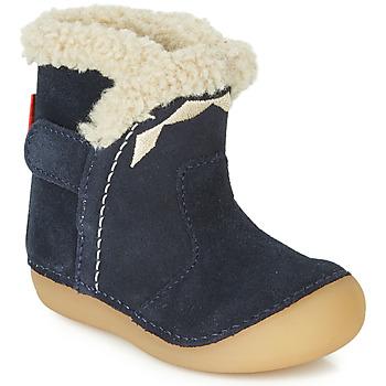 Pantofi Copii Cizme casual Kickers SOFUR Bleumarin