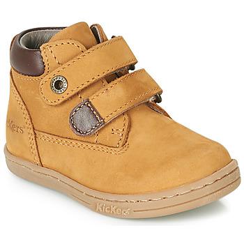 Pantofi Băieți Ghete Kickers TACKEASY Camel / Maro