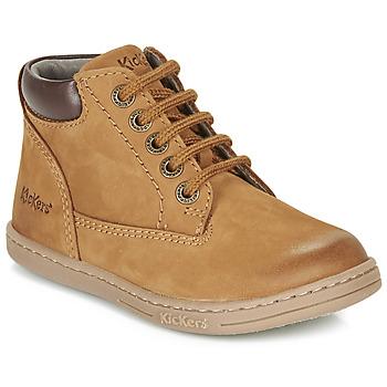 Pantofi Băieți Ghete Kickers TACKLAND Camel