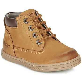 Pantofi Băieți Ghete Kickers TACKLAND Camel / Maro
