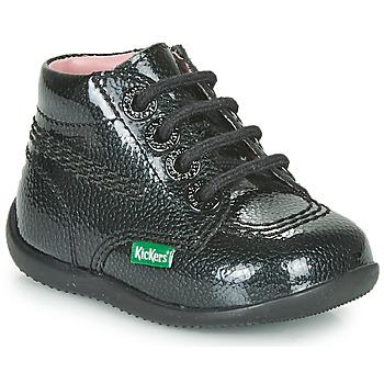 Pantofi Fete Ghete Kickers BILLISTA ZIP Negru