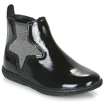 Pantofi Fete Ghete Kickers VERMILLON Negru