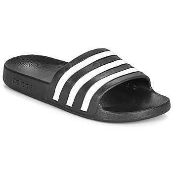 Pantofi Șlapi adidas Performance ADILETTE AQUA Negru / Alb