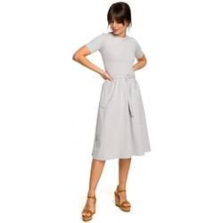 Îmbracaminte Femei Geci și Jachete Be B120 Rochie midi ajustabilă și evazată - negru
