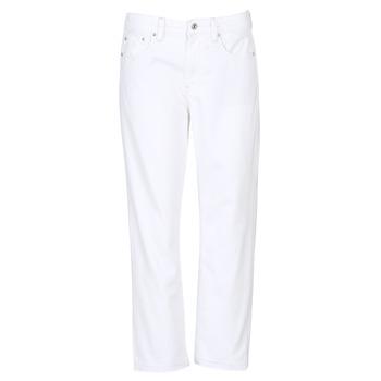 Îmbracaminte Femei Jeans boyfriend G-Star Raw 3301 MID BOYFRIEND 7/8 Alb