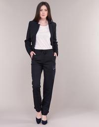 Îmbracaminte Femei Pantaloni Cargo G-Star Raw FELDSPAR HIGH STRAIGHT CARGO Bleumarin