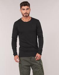 Îmbracaminte Bărbați Tricouri cu mânecă lungă  G-Star Raw BASE TEE Negru