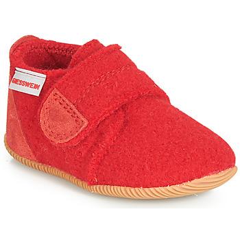 Pantofi Copii Papuci de casă Giesswein OBERSTAUFFEN Roșu