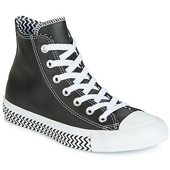 Pantofi Femei Pantofi sport stil gheata Converse CHUCK TAYLOR ALL STAR VLTG LEATHER HI Negru