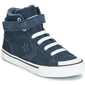 Pantofi Copii Pantofi sport stil gheata Converse PRO BLAZE STRAP SPACE RIDE SUEDE HI Albastru