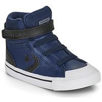 Pantofi Copii Pantofi sport stil gheata Converse PRO BLAZE STRAP MARTIAN LEATHER HI Albastru / Negru
