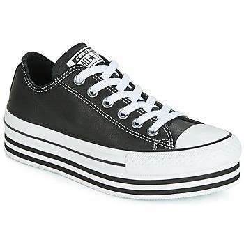 Pantofi Femei Pantofi sport Casual Converse CHUCK TAYLOR ALL STAR LAYER BOTTOM LEATHER OX Negru / Alb / Negru