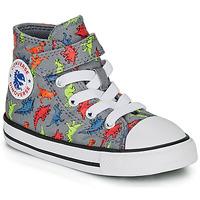Pantofi Băieți Pantofi sport stil gheata Converse CHUCK TAYLOR ALL STAR 1V DINOVERSE HI Gri