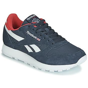 Pantofi Pantofi sport Casual Reebok Classic CL LEATHER MU Bleumarin / Roșu