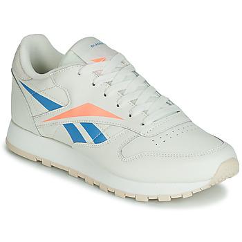 Pantofi Femei Pantofi sport Casual Reebok Classic CL LTHR Bej / Albastru / Portocaliu