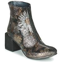 Pantofi Femei Botine Papucei MATI BLACK FLOWER înflorit