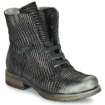 Pantofi Femei Ghete Papucei MAURA BLACK SILVER Negru
