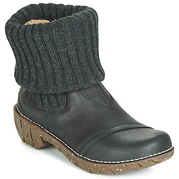 Pantofi Femei Ghete El Naturalista YGGDRASIL Negru