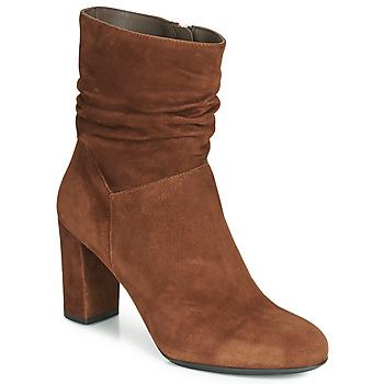Pantofi Femei Botine Perlato 11265-CAM-COGNAC Coniac