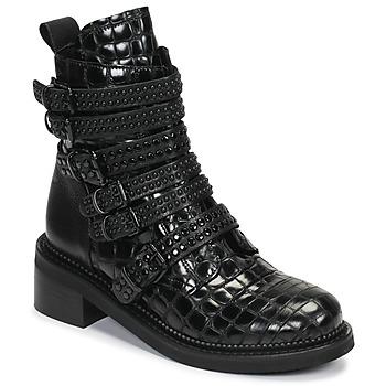 Pantofi Femei Ghete Mimmu RIPTILUS Negru