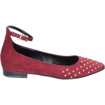 Pantofi Femei Balerin și Balerini cu curea Olga Rubini ballerine camoscio Bordeaux