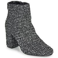 Pantofi Femei Botine Moony Mood FRIPON Negru / Alb