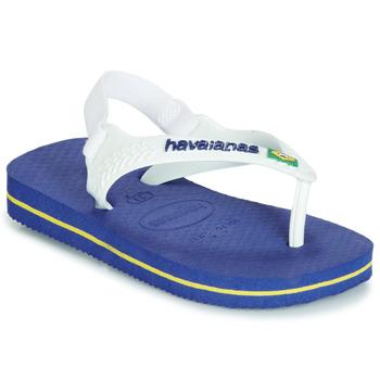 Pantofi Copii  Flip-Flops Havaianas BABY BRASIL LOGO Bleumarin