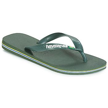 Pantofi  Flip-Flops Havaianas BRASIL LOGO Olive