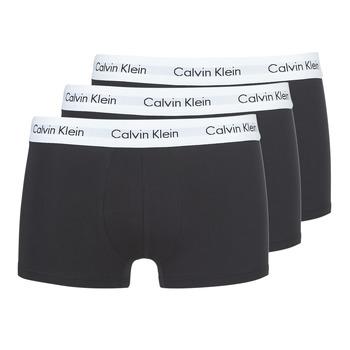 Lenjerie intimă Bărbați Boxeri Calvin Klein Jeans COTTON STRECH LOW RISE TRUNK X 3 Negru