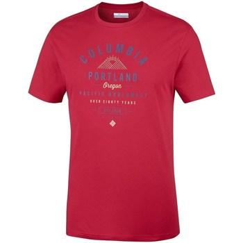 Îmbracaminte Bărbați Tricouri mânecă scurtă Columbia Leathan Trail Roșii