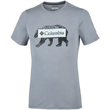 Îmbracaminte Bărbați Tricouri mânecă scurtă Columbia Box Logo Bear Gri