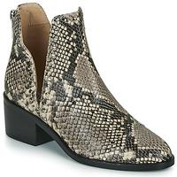Pantofi Femei Ghete Steve Madden CONSPIRE Bej / Piton
