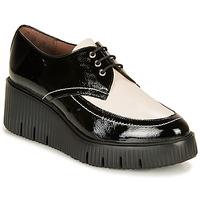Pantofi Femei Pantofi Derby Wonders E6204-LACK-NEGRO-MILK Negru / Alb