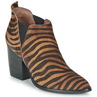 Pantofi Femei Botine Wonders M4102-ZEBRATO-CUERO Maro / Negru