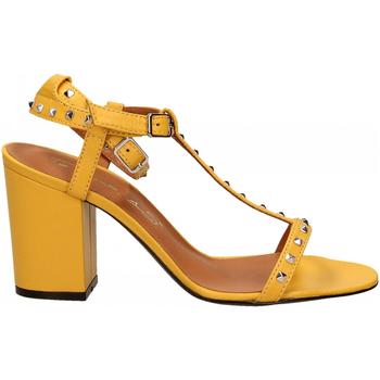 Pantofi Femei Sandale  Via Roma 15 SANDALO CINTURINI PIRAMIDI giallo