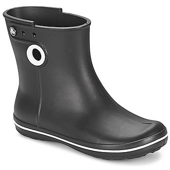 Pantofi Femei Cizme de ploaie Crocs JAUNT SHORTY BOOT W-BLACK Negru