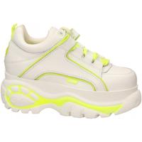 Pantofi Femei Pantofi sport Casual Buffalo 1339-14 LEATHER white-yellow