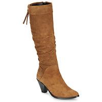 Pantofi Femei Cizme casual Regard RAKAFOU V2 CRTE VEL SILKY Camel