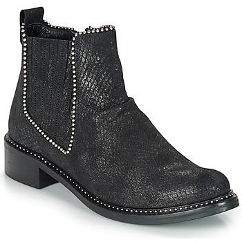 Pantofi Femei Ghete Regard ROAL V1 CROSTE SERPENTE PRETO Negru