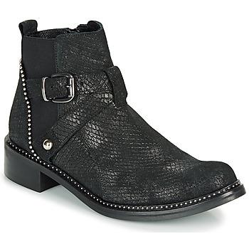 Pantofi Femei Ghete Regard ROALA V1 CROSTE SERPENTE PRETO Negru