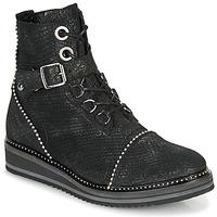 Pantofi Femei Ghete Regard ROCTALY V2 CRTE SERPENTE SHABE Negru